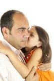 De dochter houdt van papa Stock Foto's