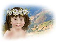 De dochter van de glimlach Stock Foto's