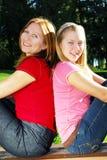 De dochter van de moeder en van de tiener Stock Foto's