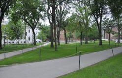 De doctorandus in de letteren van Cambridge, 30 juni: De Campuswerf van Harvard in de Staat van Cambridge Massachusettes van de V Royalty-vrije Stock Afbeeldingen