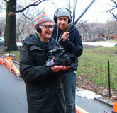 De Documentaire van Albert Maysles Filming The Gates Royalty-vrije Stock Fotografie