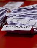 De documenten die van de verkiezing tijdens de Verkiezing worden geteld Stock Afbeelding
