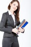 De documenten van de bedrijfsvrouwenholding Stock Foto's