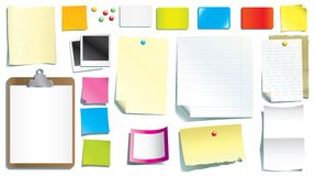 De documenten van de kantoorbehoeften Royalty-vrije Stock Foto's