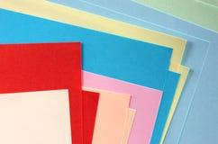 De documenten van de kleur Stock Afbeelding