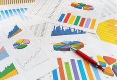 De documenten van financiën Royalty-vrije Stock Afbeelding