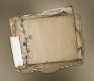 De documenten van Grunge ontwerp in het scrapbooking van stijl Royalty-vrije Stock Afbeeldingen