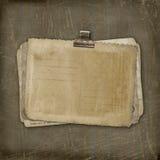 De documenten van Grunge ontwerp in het scrapbooking van stijl Royalty-vrije Stock Afbeelding