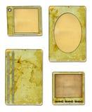De documenten van Grunge ontwerp in schroot-boekende stijl Royalty-vrije Stock Foto