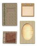 De documenten van Grunge ontwerp in schroot-boekende stijl Royalty-vrije Stock Afbeeldingen