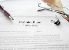 De documenten van het landgoedplan stock afbeelding