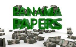 De Documenten van Panama Zeebelastingontwijking Royalty-vrije Stock Afbeelding