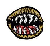 De dodelijke mond royalty-vrije illustratie