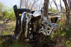 De dodelijke Neerstorting van de Auto stock afbeeldingen