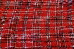 De doek van het geruite Schotse wollen stof Stock Afbeelding