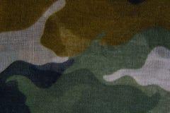 De doektextuur van het camouflagepatroon stock afbeelding