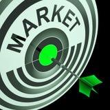 De doelmarkt betekent beogend Bedrijfspubliek royalty-vrije illustratie