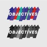 De doelstellingen en doeleinden grafische vector Stock Afbeelding