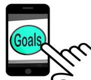 De doelstellingen knopen Vertoningendoelstellingen Doelstellingen of Aspiraties dicht vector illustratie