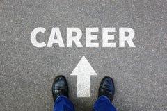 De doelstellingen van carrièrekansen succes succesvolle rijke zakenman B Stock Foto's