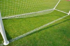 De doelstellingen van de voetbal Stock Afbeeldingen