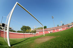De doelstellingen van de voetbal Stock Foto's