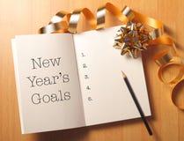 De doelstellingen van het nieuwe jaar Royalty-vrije Stock Afbeeldingen