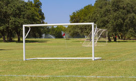 De doelstellingen van het voetbalgebied Royalty-vrije Stock Afbeelding