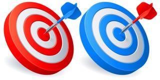 De doelstellingen van pijltjes. Royalty-vrije Stock Afbeelding