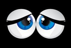 De doende zwellen ogen van ballen Stock Afbeelding