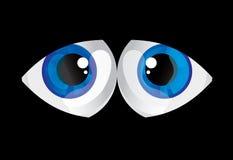 De doende zwellen ogen van ballen Royalty-vrije Stock Afbeeldingen