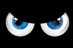 De doende zwellen ogen van ballen Stock Foto