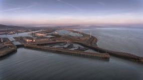 De de dokken en pijler van het oosten in Swansea Stock Foto