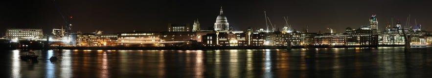 De dokkenpanorama van Londen royalty-vrije stock afbeelding