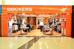 De dokwerkers slaan op Stock Foto's