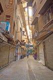 De dolda gatorna av den Teheran Grans basaren Royaltyfria Foton