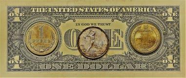 De dollar is één Royalty-vrije Stock Fotografie