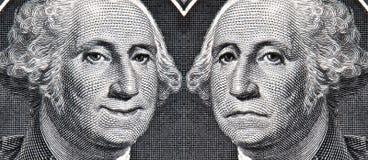De dollar toen en nu Stock Foto's