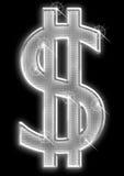 De dollar van Bling Royalty-vrije Stock Afbeeldingen
