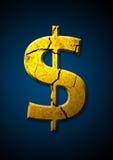 De Dollar van Brocken Stock Afbeeldingen