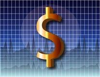 De Dollar van de grafiek Royalty-vrije Stock Afbeeldingen