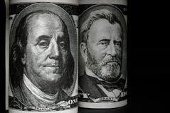 De dollar van de honderd V.S. Royalty-vrije Stock Foto