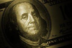 De dollar van de honderd V.S. Royalty-vrije Stock Afbeeldingen