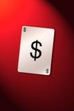 De dollar van de speelkaart Stock Afbeelding