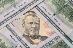 de Dollar van 50 en 100 $ van de V.S. Stock Foto's