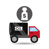 De dollar van het de zakgeld van de tankwagenolie Stock Afbeeldingen
