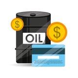 De dollar van het het conceptenbankwezen van de vatolie Royalty-vrije Stock Foto