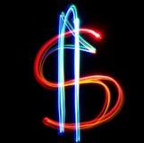 De dollar van het neon Royalty-vrije Stock Foto