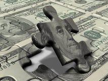 De Dollar van het raadsel Stock Foto
