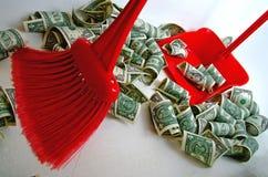 De dollar verzwakte Royalty-vrije Stock Fotografie